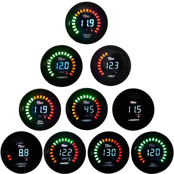 """Boost Göstergeleri Ejderha Ölçer 2 \ """"52mm Boost / Su Sıcaklığı / Yağ Sıcaklığı / Yağ Basıncı / Takometre / Volt / Hava Yakıt Oranı / EGT / Vakum Ölçer Dijital Ölçer Pods"""