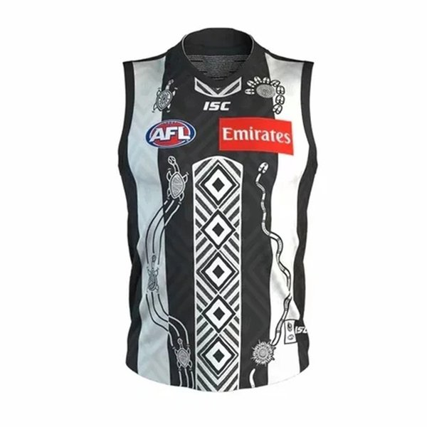 best selling 2020 COLLINGWOOD MAGPIES AFL GUERNSEY INDIGENOUS JERSEY TRAINING JERSEY size S-3XL