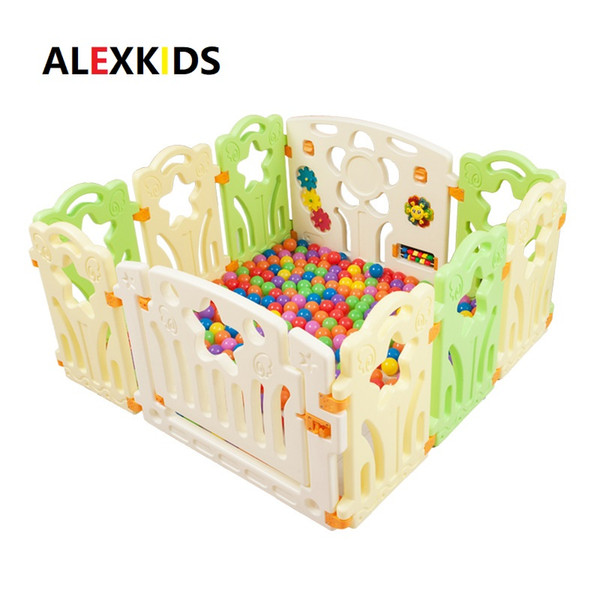 top popular Free shipping indoor baby playpens outdoor children play game fence kids activity gear safety play yard +50marine balls as gift 2020