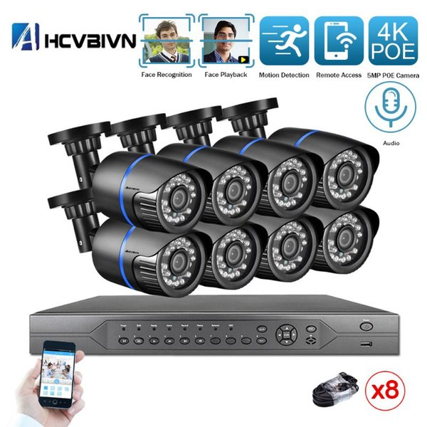 None 16ch nvr 8pcs cam