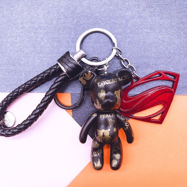 Heping Noir + cuir noir + corde rouge