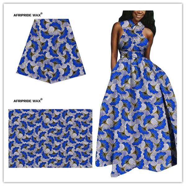 top popular 2021 african ankara fabric high quality wholesale african flower 100% cotton real wax brocade fabric for clothing A18F0497 2021