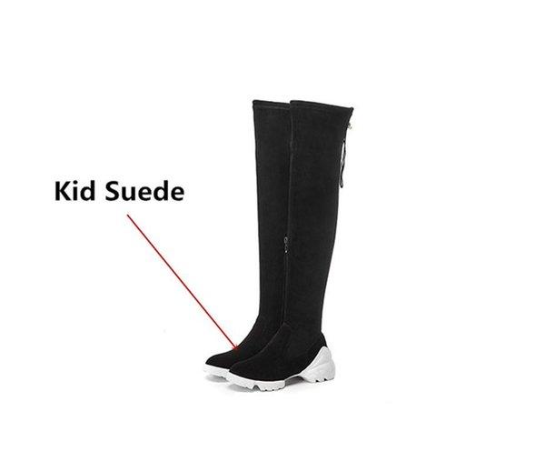 Kid-Suede schwarz