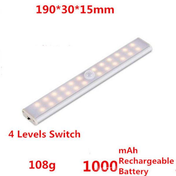 24 LED Şarj edilebilir Sıcak beyaz