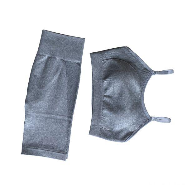 Bra + Shorts Gray