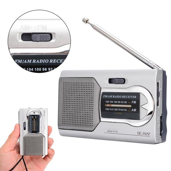 best selling Mini Portable BC-R22 Radio Handheld Digital AM FM Telescopic Antenna Radio World Receiver for Jogging Walking and Travelling