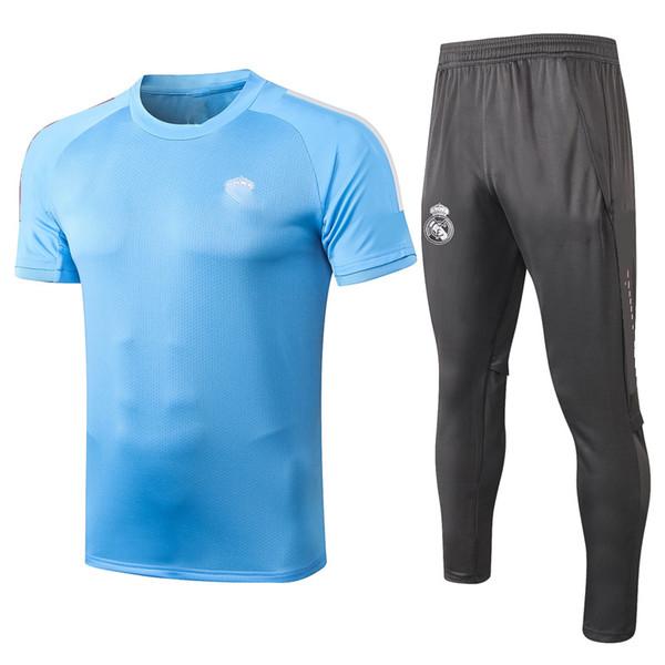 C517 # 2021 Kit à manches courtes bleu clair