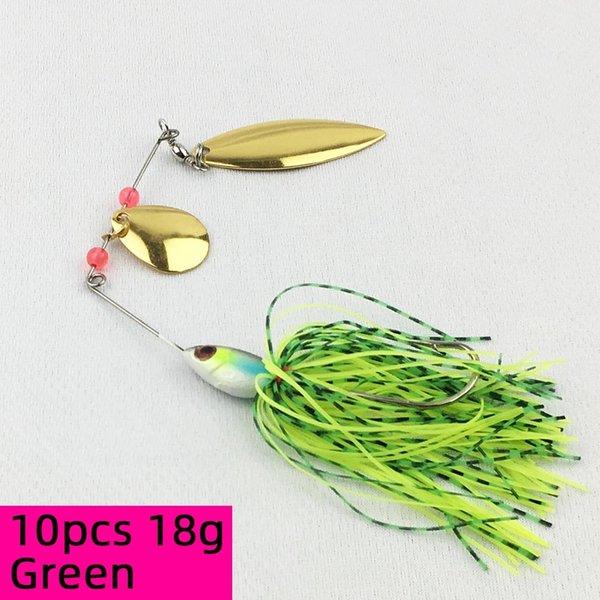 10pcs 18g Green