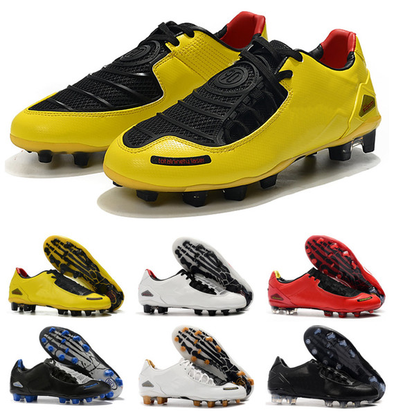 best selling Classic New Arrival Mens Total 90 Laser I SE FG Football Shoes Top Quality Limited 2000 Black Yellow Athletic Soccer Cleats Size 35-45
