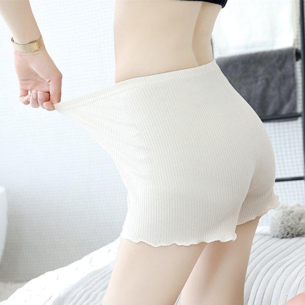 Algodón de tres puntos del color de la piel Pantalones