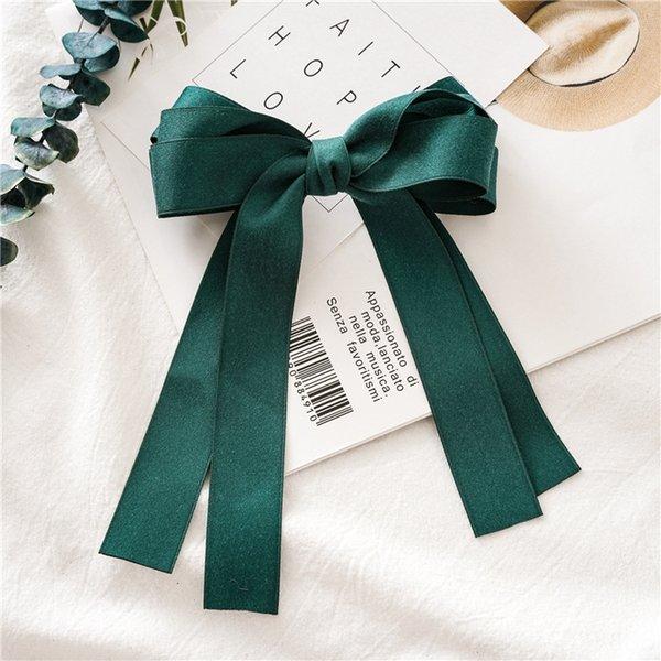 Dark Green Tassel Hairclip