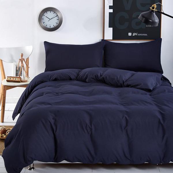New design, solid color design, 3/4 bedding sets of mattresses bedspread sets / flat / pillowcase Full/Queen/King/Super King siz