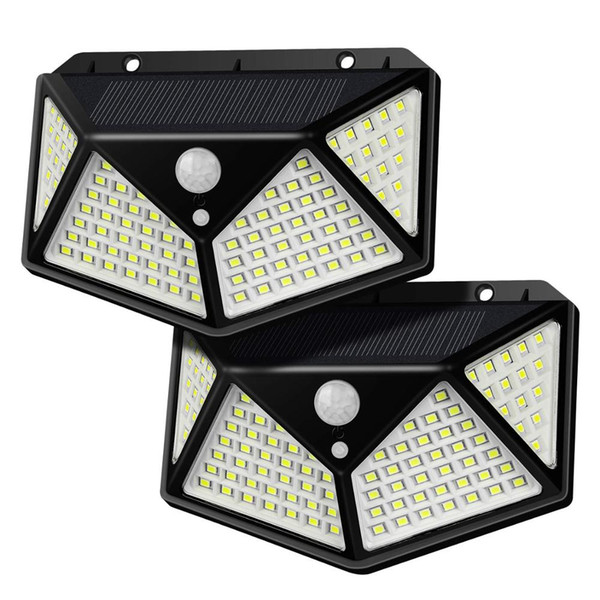 top popular Outdoor 3 Modes Security Wall Lights 270 Degree Wide Angle 100 SMD LED IP65 Waterproof Wireless Motion Solar Light for Yard 2020