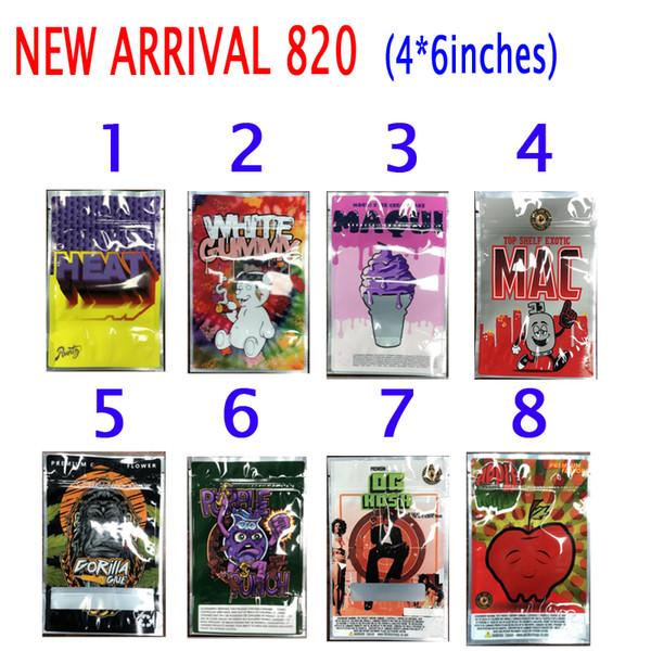best selling HEAT RUNTZ WHITE GUMMY MAQUI MAC GORILLA GLUE PURPLE PUNCH OG KUSH APPLE FRITTER EMPTY PACKAGE DRY HERB FLOWER Packaging Mylar Bag