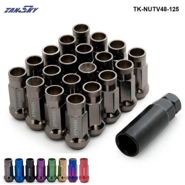استبدال أجزاء السيارات المكسرات البراغي سباق V48 20PCS مدد عجلات عجلات مقطورة المكسرات مفتوحة / 12x1.5 TK-Nutv48-15