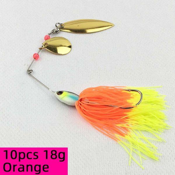 10pcs 18g Orange