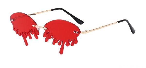 Gold Frame Red Slice