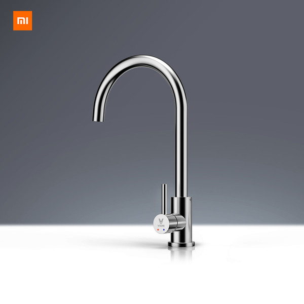 top popular Xiaomi Mijia Youpin Yunmi Stainless Steel Faucet Lead-free Healthy Living Water 304 Stainless Steel Hot and Cold Dual Control 2021