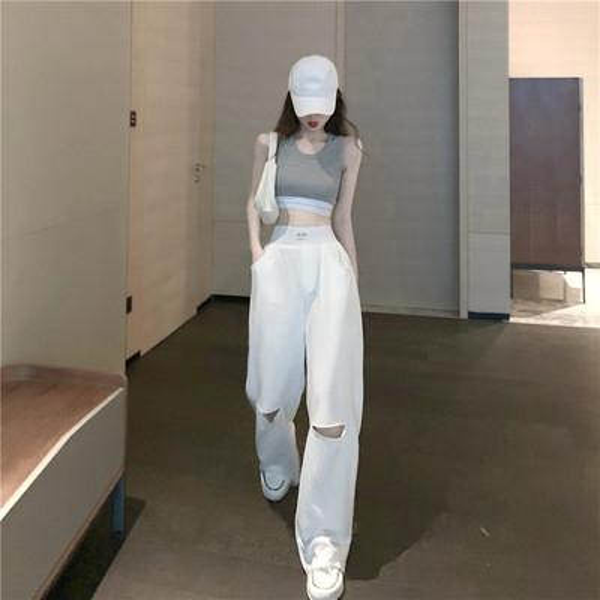 Top + Белые брюки