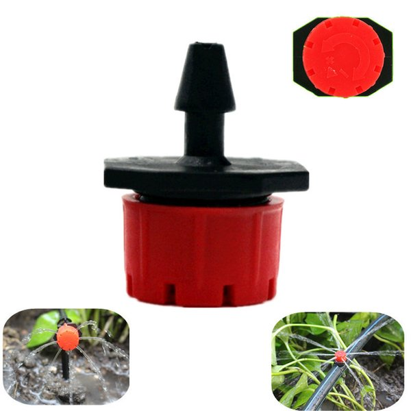 best selling 500PCS 8Holes Red Adjustable Flow Dripper Micro Nozzle Dripper Emitter Drip Irrigation Sprinkler Nozzle Garden Watering Fittings Y200106