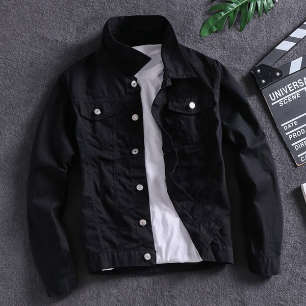 Sólido Jacket Cor Preto