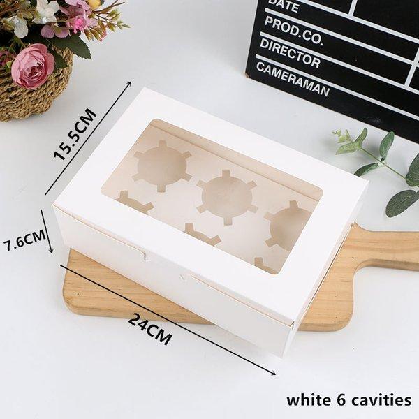 blanc 6 cavités 5PCS