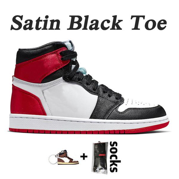 Toe A6 36-46 satinado Negro