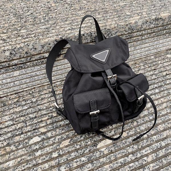 top popular New Mini Women Bags Fashion Backpack Triangle Letters Shoulders Bag Chain Crossbody School Bag Black Blue Pink Cute Handbags with Box 2020