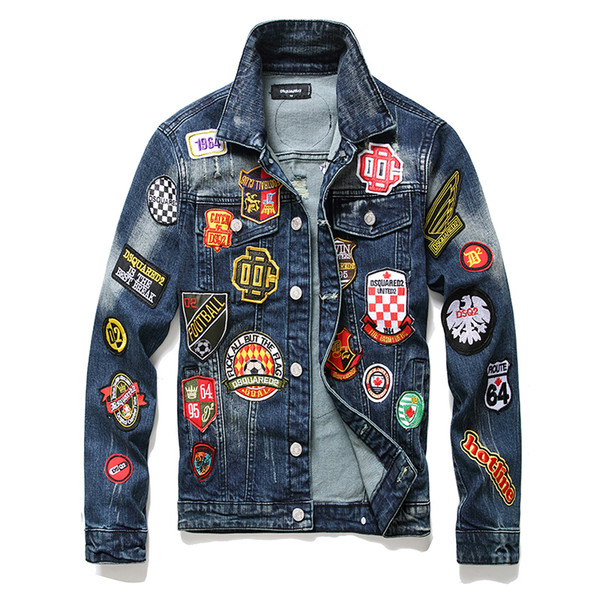 best selling 5a Top High Quality Designer Mens Motorcycle Biker Letter printing denim jacket fashion bomber Denim Slim windbreaker D2 Jean jackets