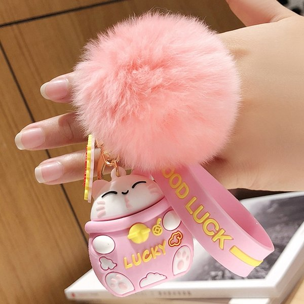 Rosa Lucky Cat + Fur Ball-Individual OppBag