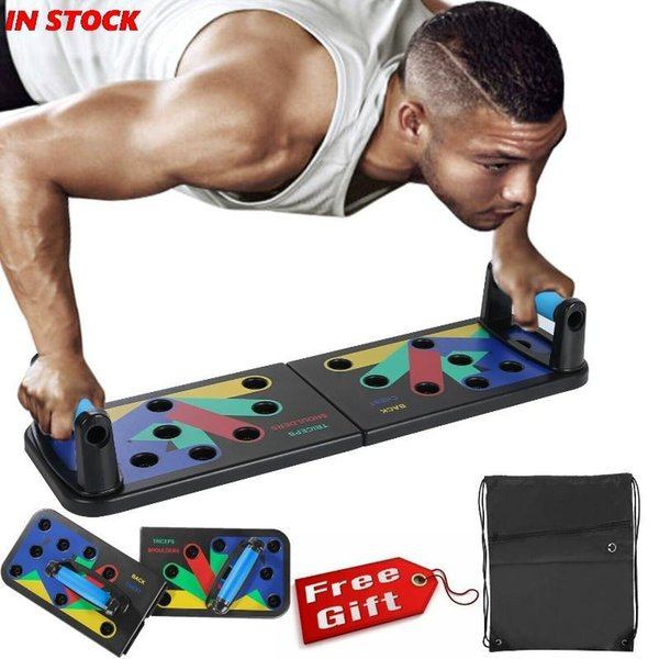top popular Power Press Push Up Muscle Board System Pushup Stands Foldable Board 2021