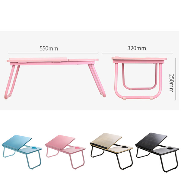 Blackboard55X32X25cm Density board Laptop Table Adjustable Portable Folding Laptop Stand Desk Bed Table with Cup For Computer No Brand NameS SKYEE Size55*32*25 Thickness12mm MaterialDensity board ApplicationIndoor/Outdoor ColorBlack/Pink/Blue/Wood color