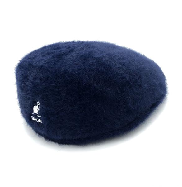 Pelliccia del coniglio Navy Blue-M (56-58cm)