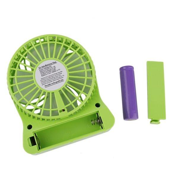 top popular Portable Desk Fan LED Light Fan 5W Outdoor USB Fan Without 18650 Battery 2021