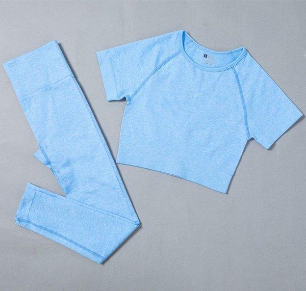 Blue Bra Leggings
