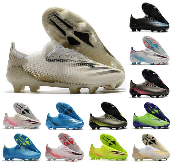 top popular 2020 New X Ghosted.1 FG Mens Women Boys Ghosted .1 Lace-Up Soccer Football Shoes Soccer Boots Soccer Cleats Size US 6.5-11 2020