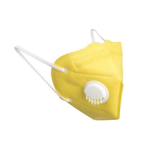 KN95 jaune avec valve