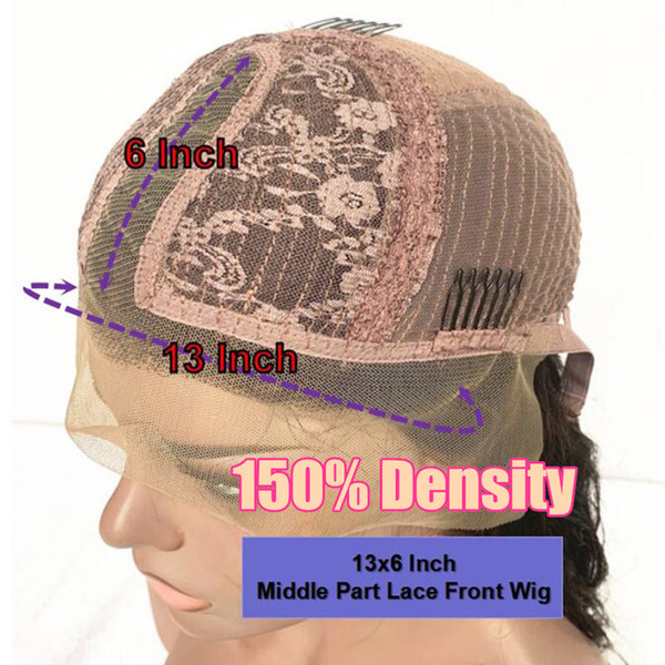 150Density 13x6 Middle Part Wig