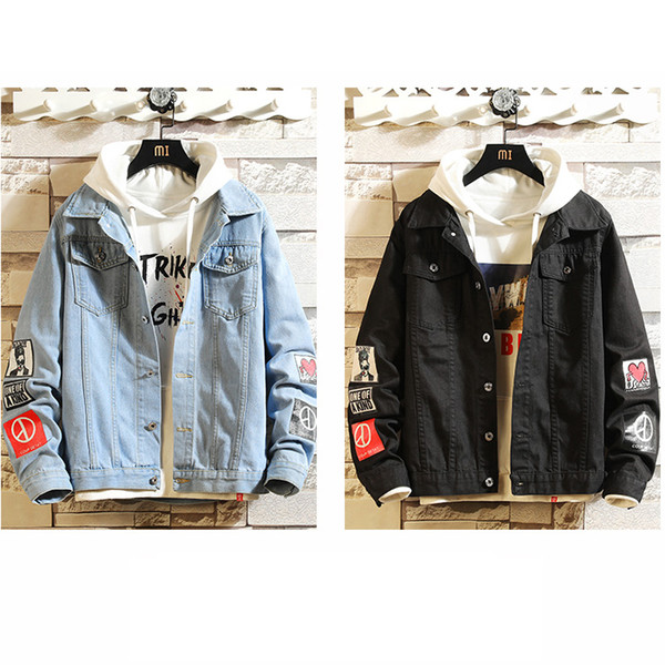 Men Fashion Jackets with Applique 2020 Denim Jackets Youth Student Style Fashion Solid Color Coats Outerwear Mens Clothing Hot Sale 2020 new arrival, we are the factory with the lowest price in the site.Welcome wholesalers to purchase, we will provide more discounts!Pls read the size chart carefully,if any quality problem u can ask for after-sales customer service!
