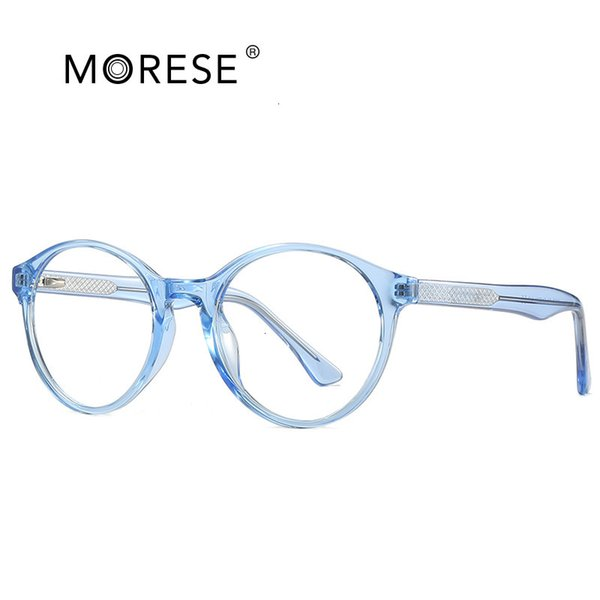 C4 Transparent Blue Frame-Flat Lens