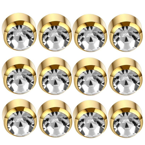 12Pairs Gold Clear