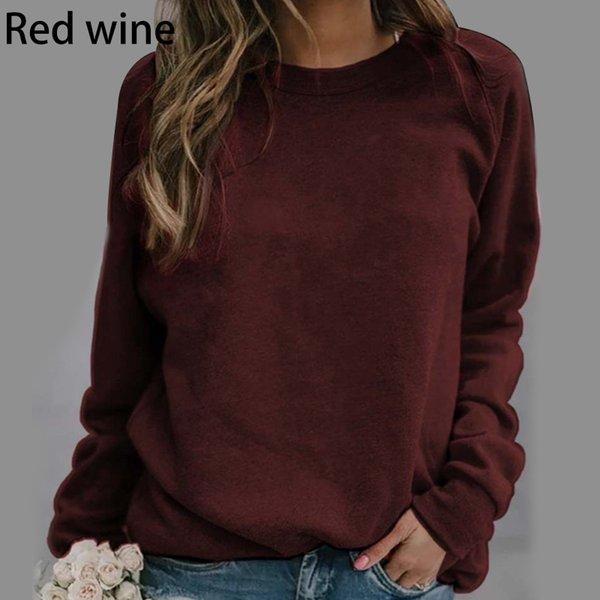 Sweat à capuche Vin rouge