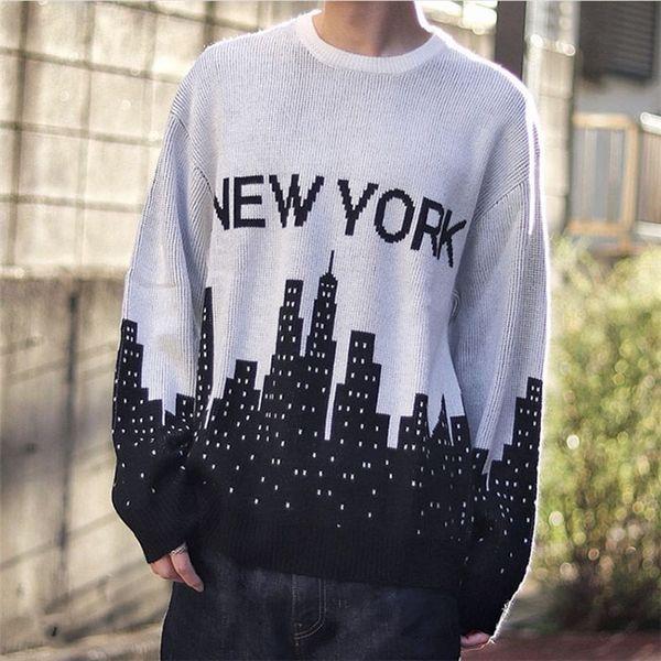 best selling 20SS New York Crewneck Sweater Sweatshirt Street Men Women Knitting Pullover Hoodies Autumn Winter Warm Outwear