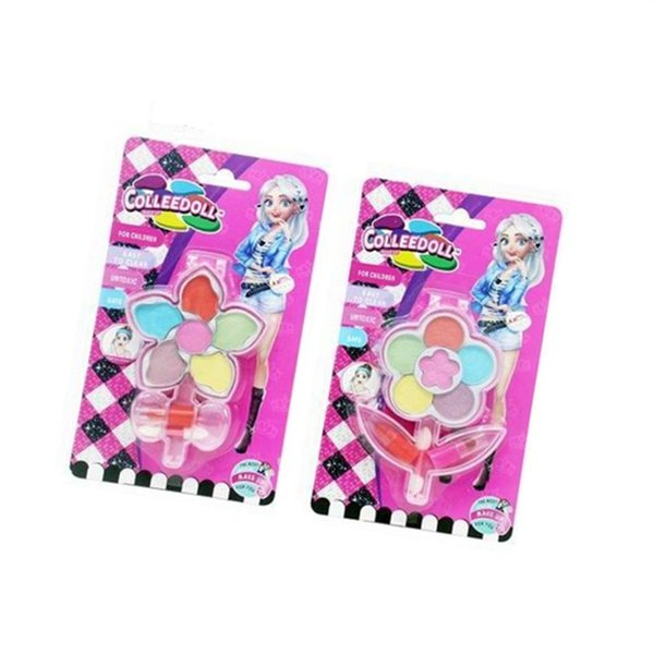 best selling Easy Washing 2 blister card mixed wholesale and portable mekap set makeup kit for girls 5+