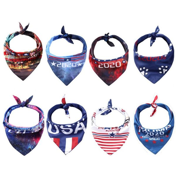 top popular 8 Styles Trump Triangle Scarf 2020 American Election Supplies For Pet Dog and Cat Free Shipping 2020