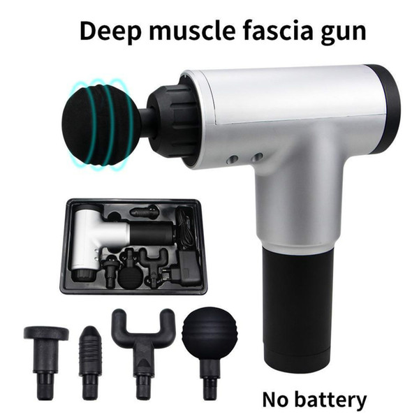 top popular Stock High Quality Muscle Massage Gun Deep Massage Exercising Body Relaxation Fascial Gun Pain Relief Slimming Shaping 2020 Hotselling 2021