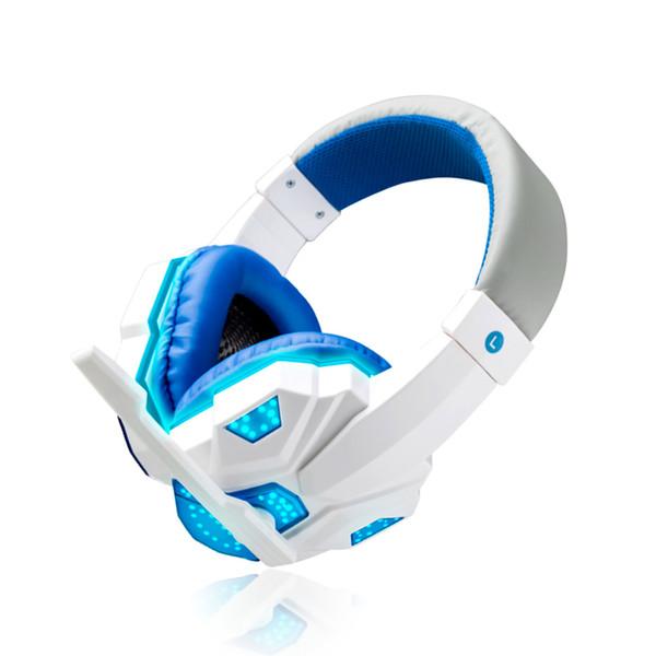 الأبيض + الأزرق مع الضوء