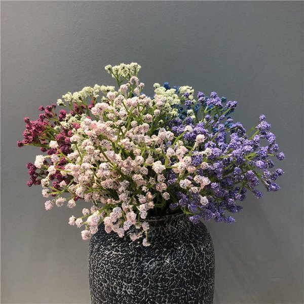 1 Bouquet Fake Little flowers Heads DIY Gypsophila Simulation Artificial Fake Flower Baby's Breath Wedding Home Decoration