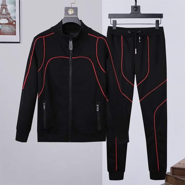 best selling Men Tracksuits Fashion Designer Hoodies+pants 2 Piece Sets Solid Color Outfit Suits sweatshirt High Quality Zipper Slim Fit Tracksuits M-3XL