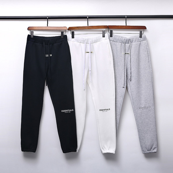 top popular 19SS FOG FEAR OF GOD ESSENTIALS Pants for Mens Fashion Drawstring Relaxed Homme man Luxury clothes Printed letters Hip Hop Sweatpants S-XL 2020